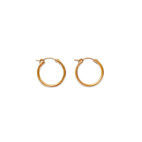 18mm Gold Fill Hoop Earrings