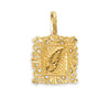 Engraved Initial Pendant Necklace - J