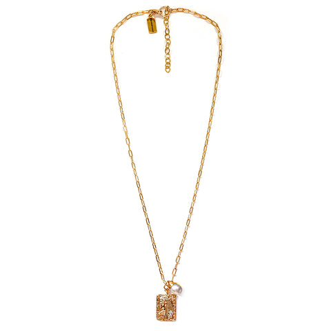 Cleo Pearl Drop Necklace