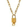 Vintage Louis Vuitton Lock Necklace