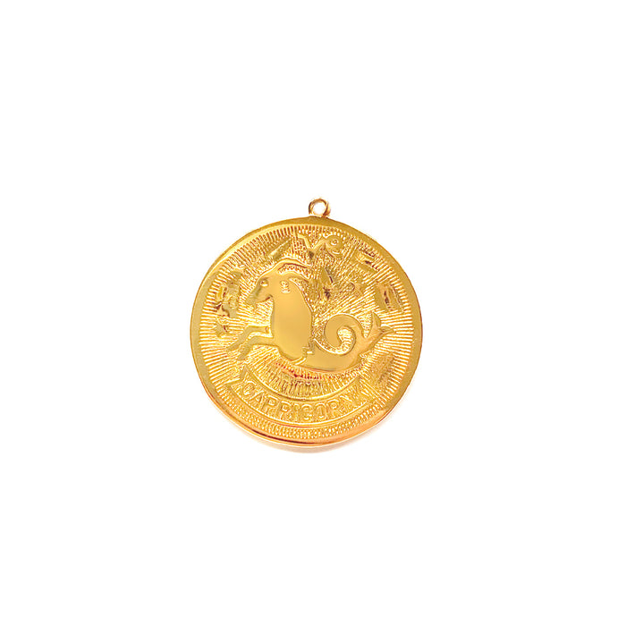 Zodiac Medallion Necklace - Capricorn