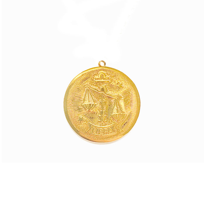 Zodiac Medallion Necklace - Libra