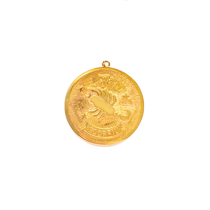 Zodiac Medallion Necklace - Scorpio