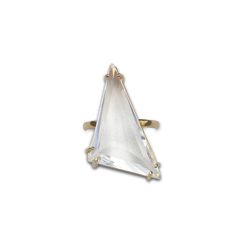 Love Triangle Ring in 14k Gold