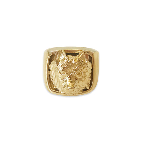 Lone Wolf Ring in Gold