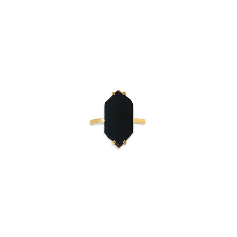 After Dark Hexagon Ring