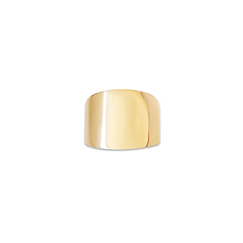 Jay 14k Gold Wide Cigar Band Ring