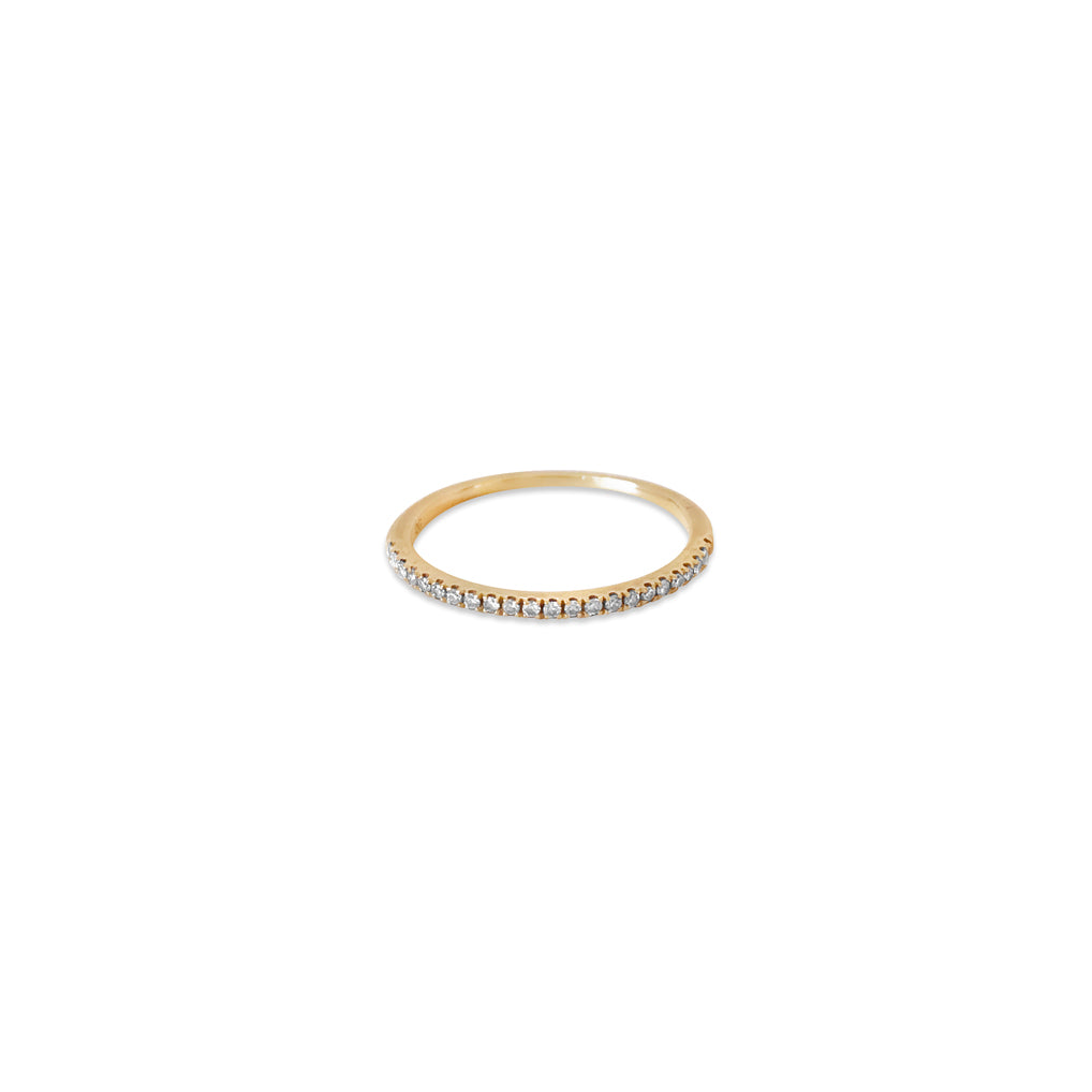 Whisper 14k Gold Pave Diamond Ring