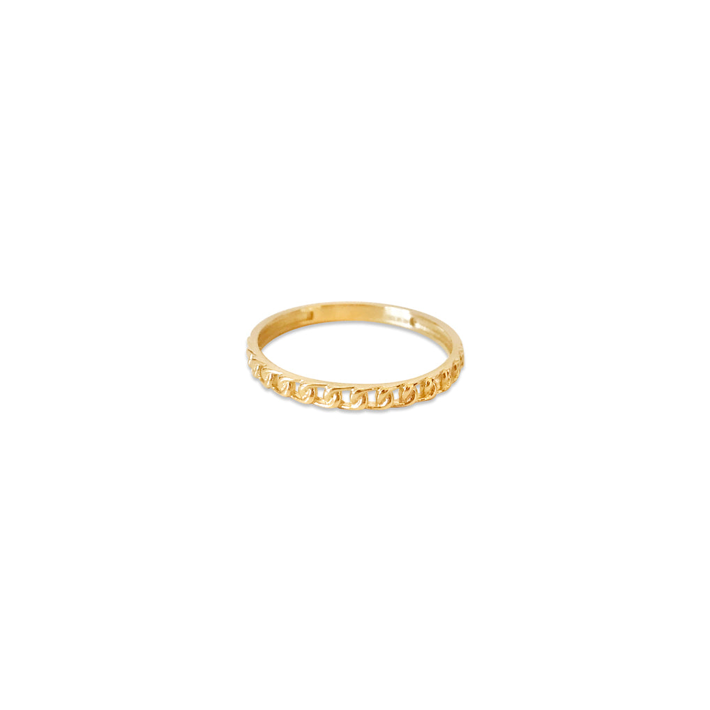 Daisy 14k Gold Link Band Ring