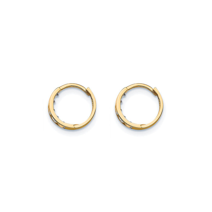 14k Gold Mini Hinged Hoop Earrings