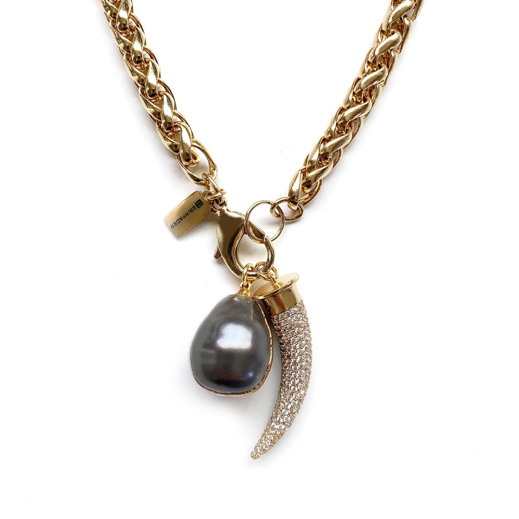 What a Pearl Wants Necklace - Cashmere Gray