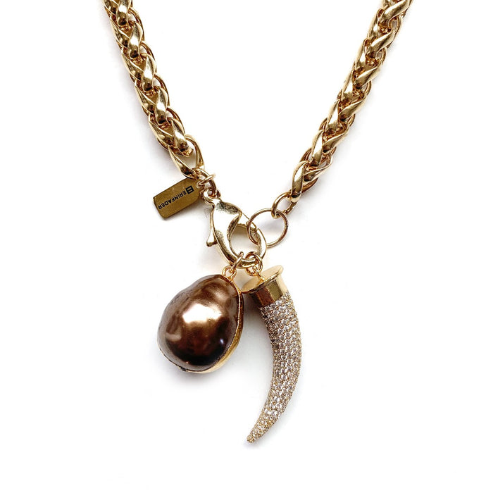 What a Pearl Wants Necklace - Golden Topaz
