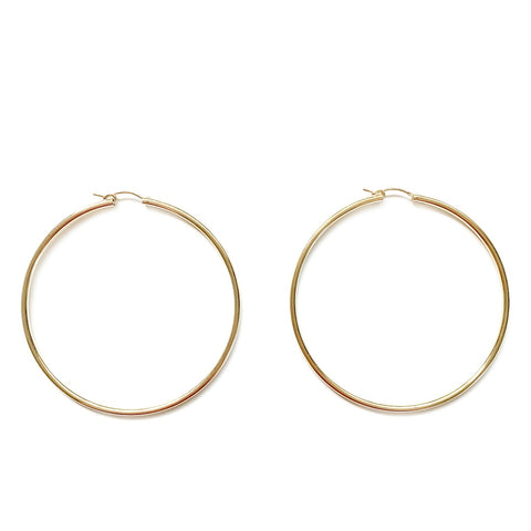 65mm Gold Hoop Earrings