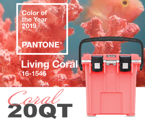 Introducing Coral/White—Inspired by the Pantone color of the year