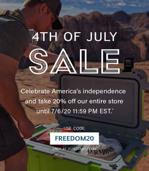 4th of July Sale: 20% Off Entire Store