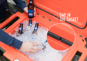 Why does my Pelican Cooler have a gap in the gasket?