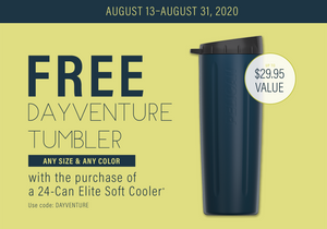 Free Dayventure Tumbler with Purchase of 24-Can Soft Cooler