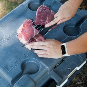 Using your Pelican Elite Cooler as a Cutting Board