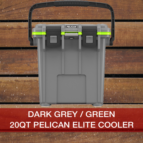 Add to cart 20QT Dark Grey/Green Pelican Elite Cooler