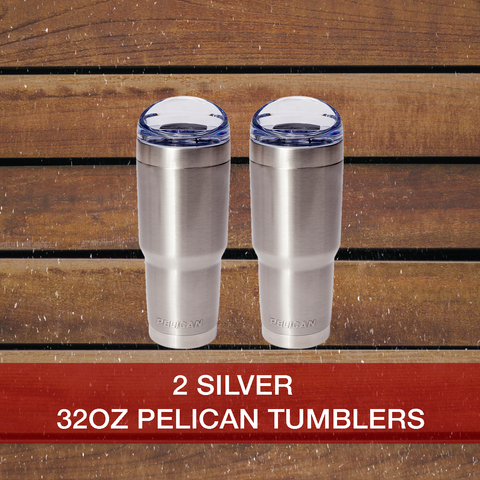Buy now 2: Silver 22oz Pelican Tumblers