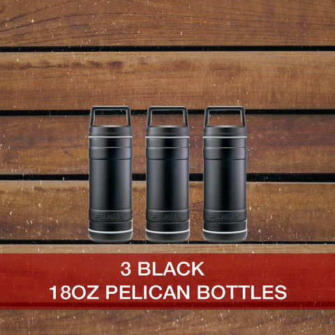 Buy now 3: 18oz Black Pelican Bottles
