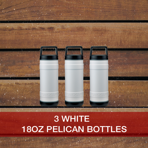 Buy now 3: 18oz White Pelican Bottles