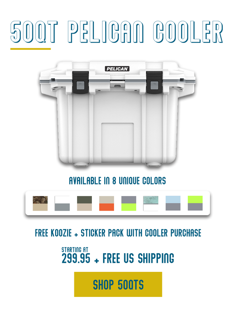 One cooler, all the adventures. Check out what fits inside of a 50Qt Pelican Cooler.