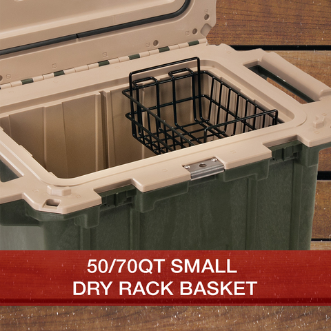 Buy now 50/70 QT Small Dry Rack Basket Pelican Elite Cooler