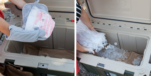 Packing Dry Ice Inside of a Pelican™ Elite Cooler
