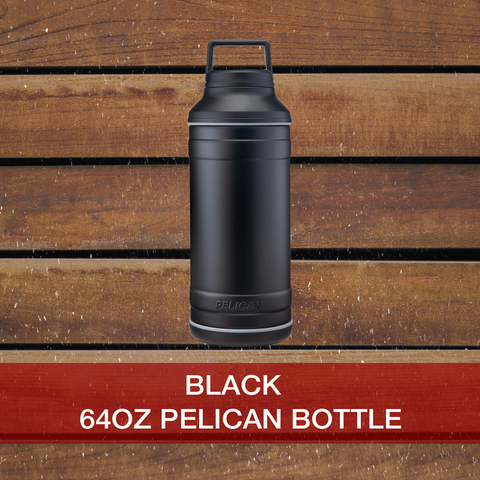 Buy now 64oz black Pelican Bottle