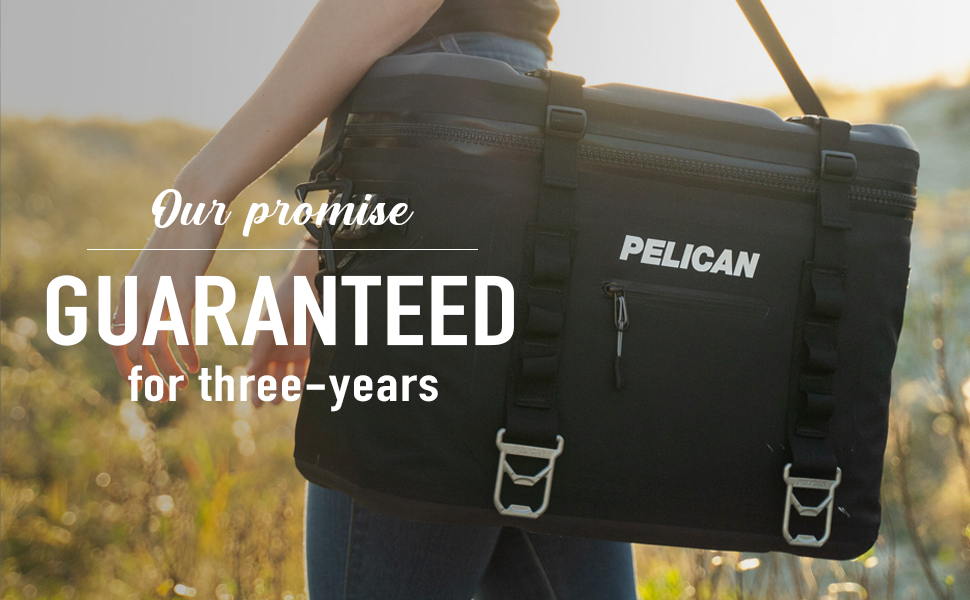 Pelican Elite Soft Coolers come with a 3-year warranty