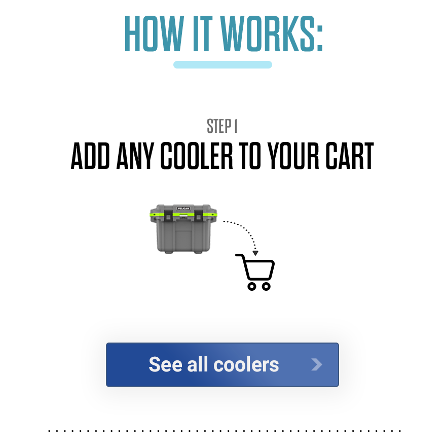 How it Works: Add any cooler to your cart