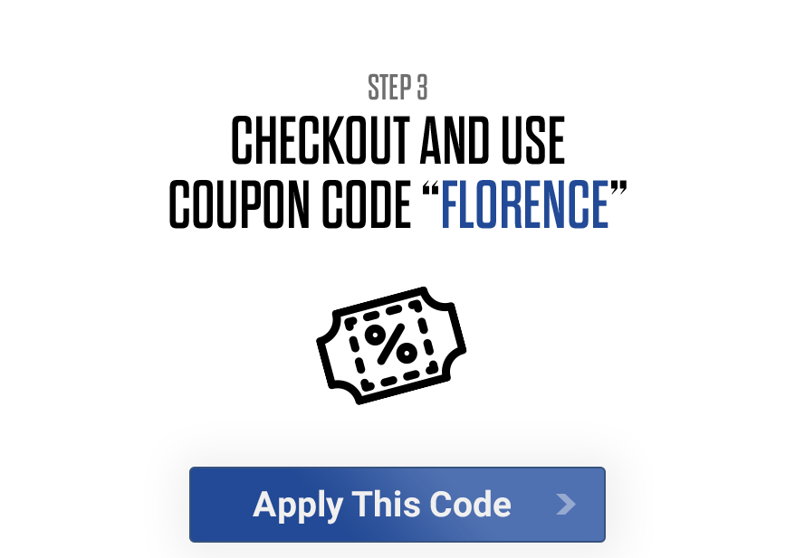 Check out and use promo code: FLORENCE
