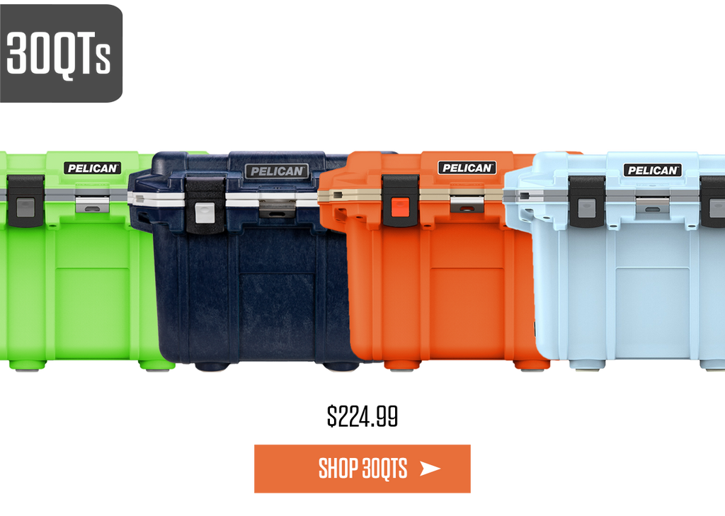 New Summer Cooler Colors in 30Qt Pelican Elite Coolers