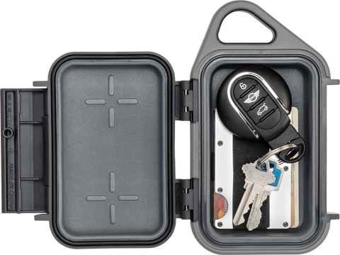 Pelican G10 Go™ Case with keys and credit cards