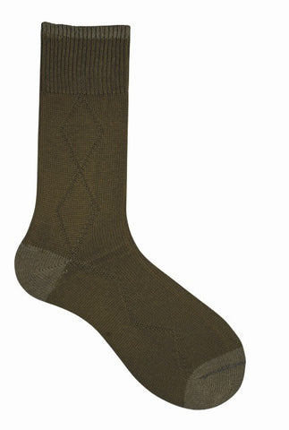 10006 Mens Socks - THT Drop Stitch Diamond Ank