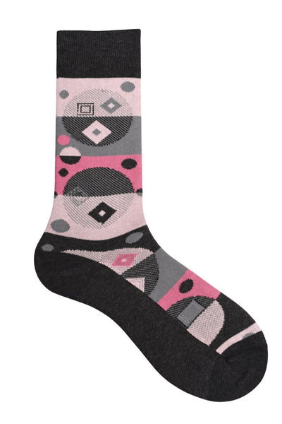 10187 Mens Socks - Abstract Cotton Blend Ank