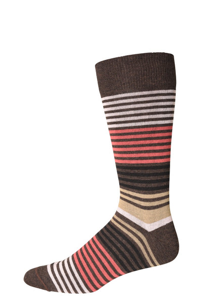10312 J.M. Dickens Mens Socks - Stripe Cotton Blend Ank