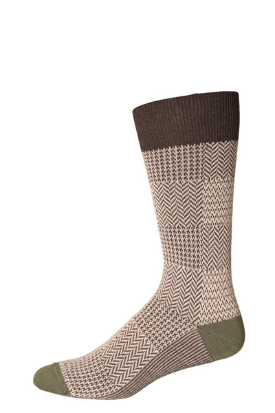 10321 J.M. Dickens Mens Socks - Neat Check Cotton Blend Ank