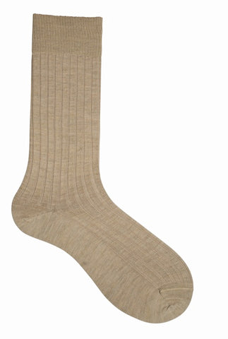 13011 Mens Socks - Solid Wool Ribbed Ank