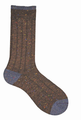 15002 J.M. Dickens Mens Socks - Donegal Rib Casual Ank
