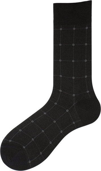 302197 PUNTO Mens Socks - Windowpane Ank