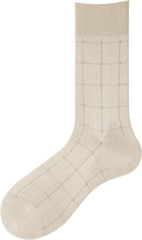 302197 Mens Socks - Windowpane Ank