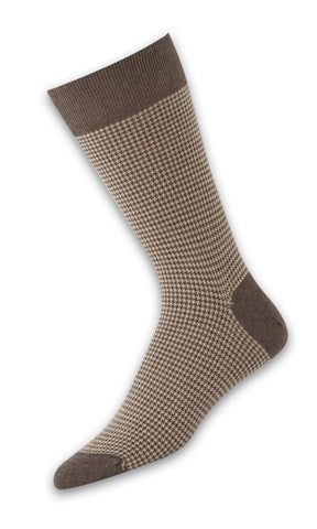 302248 PUNTO Mens Socks - Houndstooth Ank