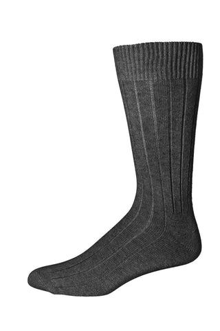 318107 Mens Socks - Cashmere Wool Blend Rib Ank