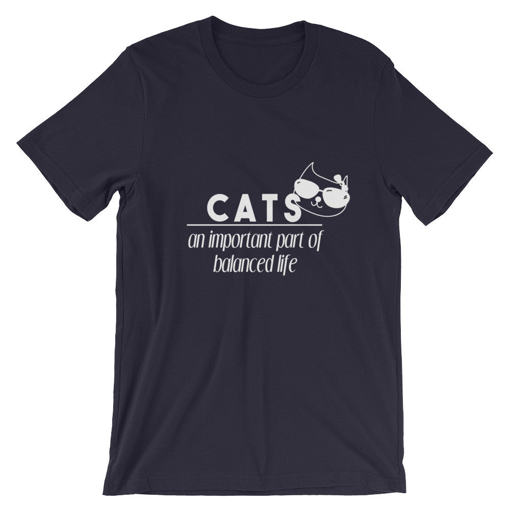 Cats Important Part Of Life - Unisex short sleeve t-shirt