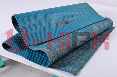 Jute yoga mat with pvc lining