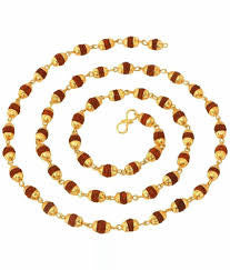 Rudraksha Mala Golden cap 54+1beads