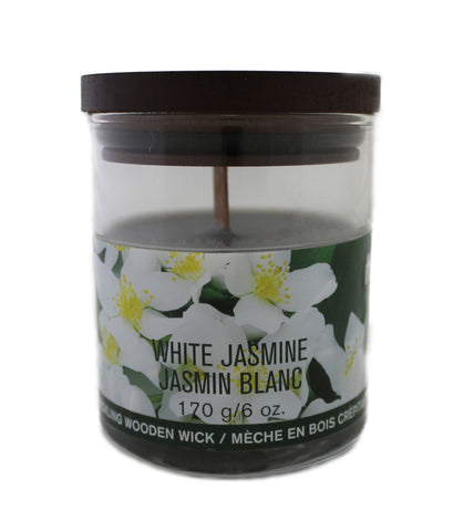 White Large Rose Candle