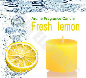 Lemon Pillar Candles